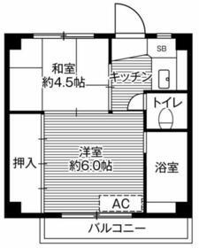 ビレッジハウス串崎1号棟・0203号室の間取り
