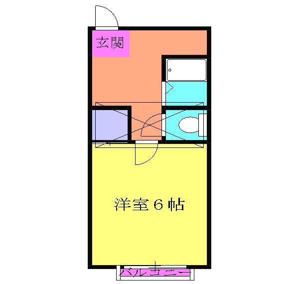 小泉アパートNo.8・18号室の間取り