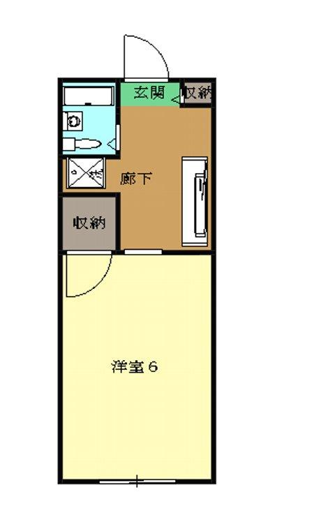 サンライズヒル湘南・206号室の間取り