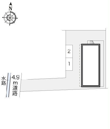 レオパレスSELENITE 206号室の駐車場