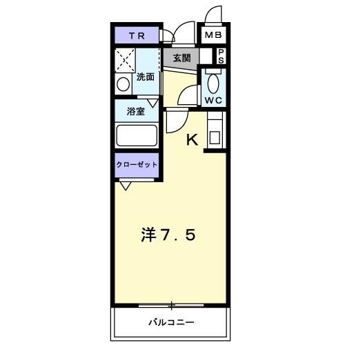 ラピュタ・05030号室の間取り