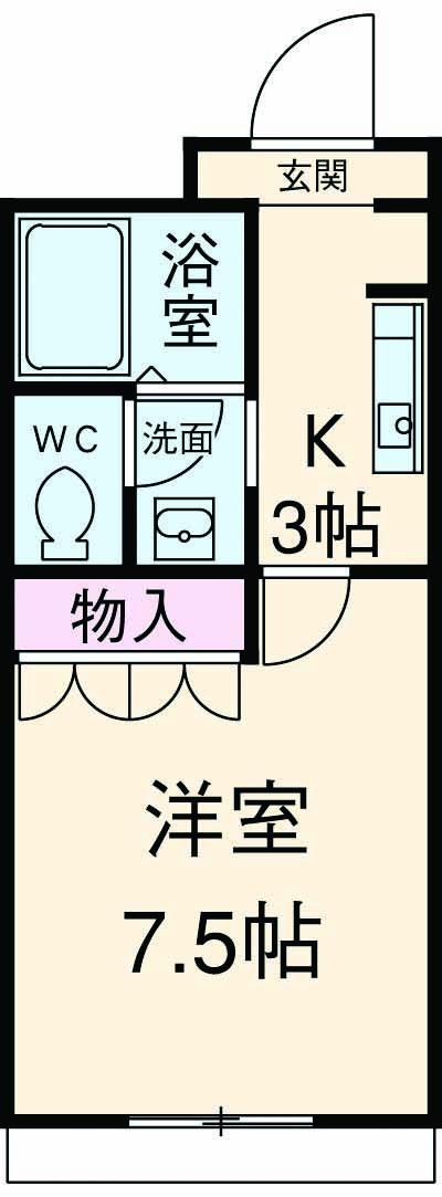 レジデンスSAKURA 103号室の間取り