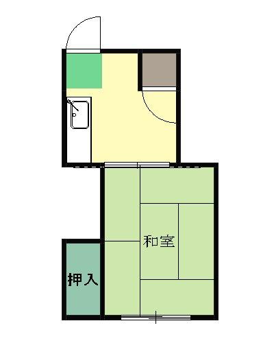 高木アパート・203号室の間取り