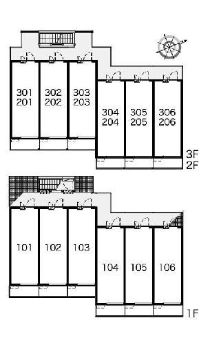 レオパレスKAZUⅢ 301号室の駐車場