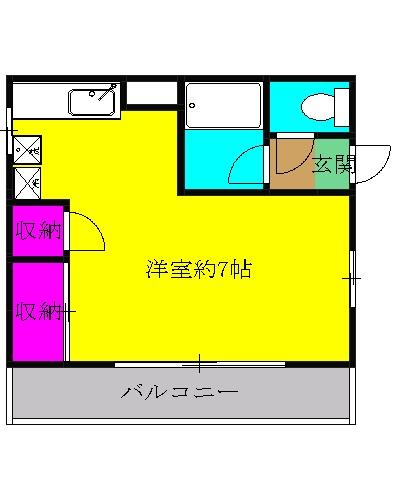 湘南カヤマコーポ 別館・207号室の間取り