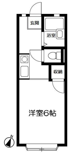 クレスト湘南・103号室の間取り