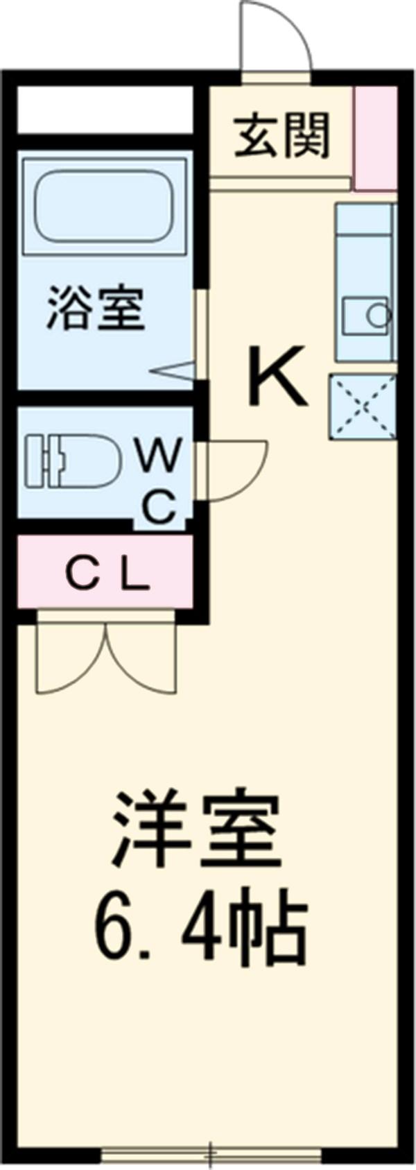 コーポKARUGAMO・108号室の間取り