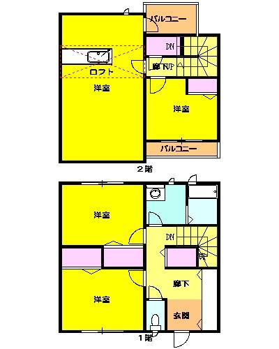 WIN-WIN HOUSE・9号室の間取り
