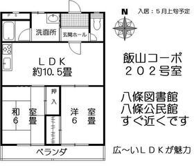 飯山コーポ・202号室の間取り