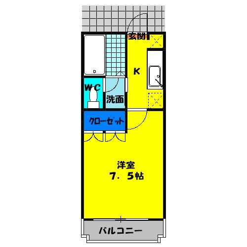 レジデンスSAKURA 101号室の間取り