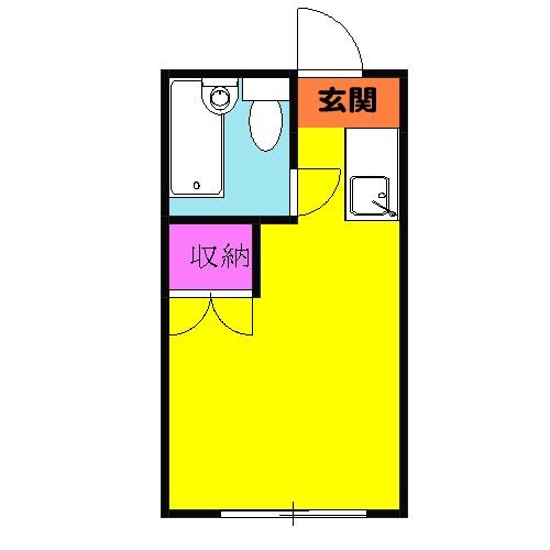スペース桜ヶ丘・105号室の間取り