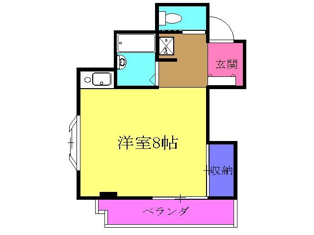 TOWA-HOUSE・502号室の間取り