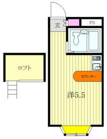 ベルピア・北松戸第8-4・202号室の間取り