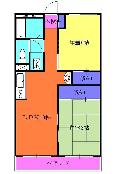 メゾン三田・302号室の間取り