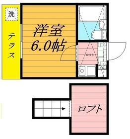 ジュネパレス松戸第08・0105号室の間取り
