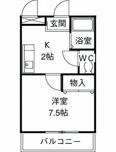 ピア・エフ湘南 101号室の間取り