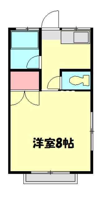 宮田ハイツ・203号室の間取り