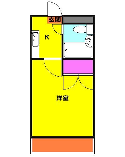 クラージュ湘南二宮・105号室の間取り