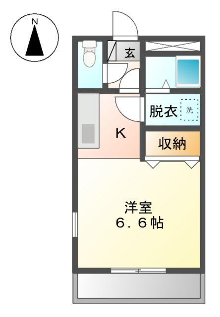 サンフラワー湘南 302号室の間取り