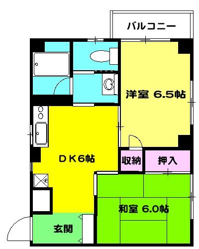 COM′S-1 302号室の間取り