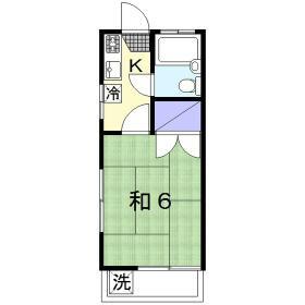 青山ホーム 203号室の間取り