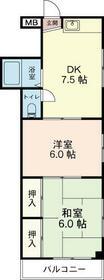 竹内マンション・201号室の間取り