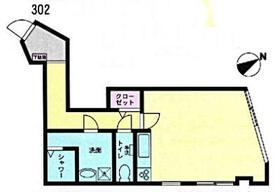 トーオービル 3-B号室の間取り