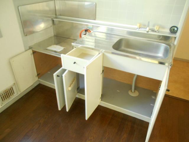 グリーンヒルTOMURO D 101号室のキッチン