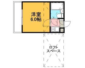 ジュネパレス松戸第55 201号室の間取り