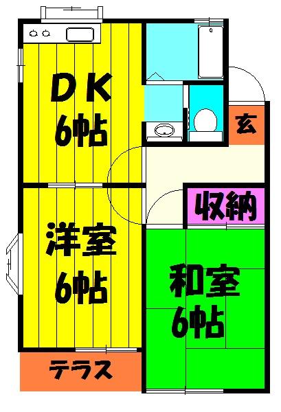 柿沼コーポA・102号室の間取り