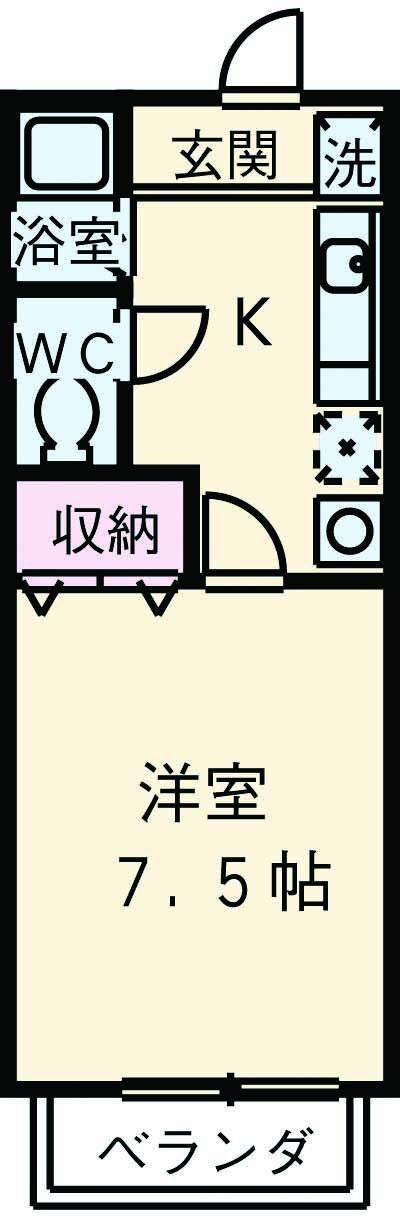 ライブコープ平井F・107号室の間取り