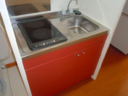 レオパレス山都 208号室のキッチン