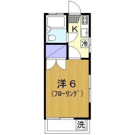 青山ホーム・101号室の間取り