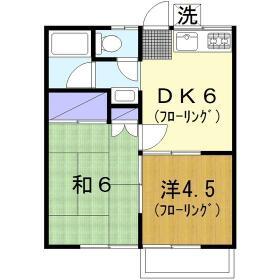 福島荘・202号室の間取り