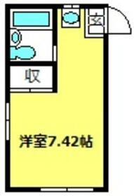 ラポーレ上尾・203号室の間取り