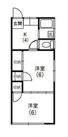 関戸アパート・105号室の間取り