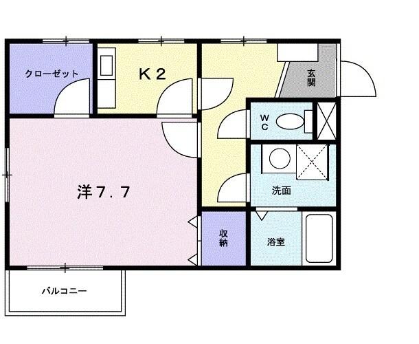 メゾン・ハイマ-ト・01030号室の間取り