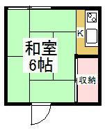 黒須荘 203号室の間取り
