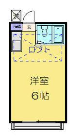 西川口コスモスパートⅠ 202号室の間取り