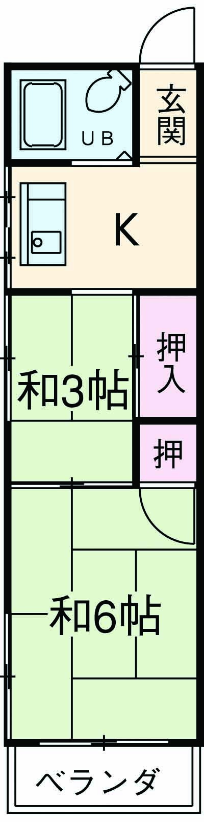 永山コーポ 203号室の間取り