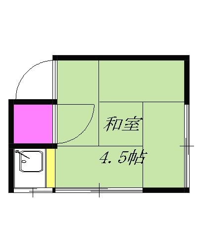 関川荘・208号室の間取り