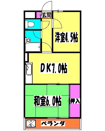HIROITO BLDG. 403号室の間取り