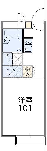 レオパレス横浜東寺尾弐番館・103号室の間取り