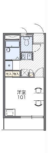 レオパレスASAHI 203号室の間取り
