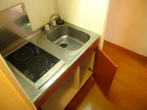 レオパレスASAHI 203号室のキッチン