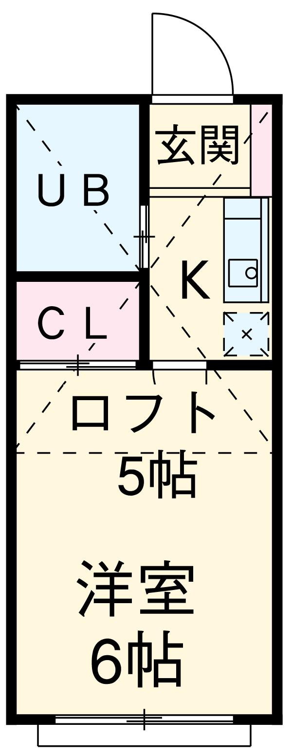 グリーンハイツ東寺尾・105号室の間取り