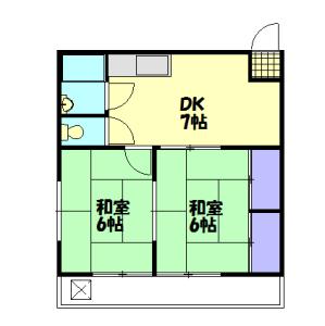ニュー雑色マンション新館・215号室の間取り