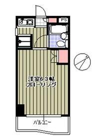 ドミナス横浜・301号室の間取り