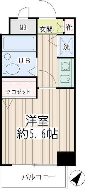 ネオマイム新子安弐番館・0905号室の間取り