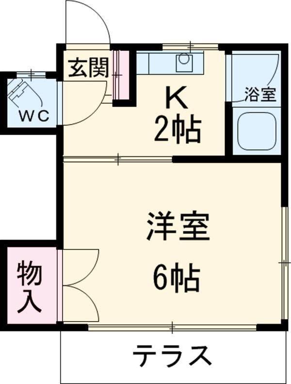 藤荘 1-A号室の間取り